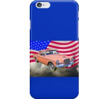 1961 Studebaker Hawk Coupe With American Flag iPhone Case/Skin