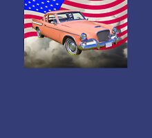 1961 Studebaker Hawk Coupe With American Flag Unisex T-Shirt
