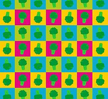 Popart Funny, Broccoli by XOOXOO