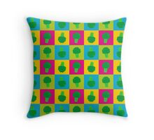 Popart Broccoli Throw Pillow