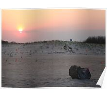 Sunset Over the Dunes, Sea Girt, New Jersey, USA Poster