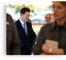 Standing Out In The Crowd - Nick Clegg, LibDem Leader, British Politician Canvas Print