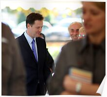 Standing Out In The Crowd - Nick Clegg, LibDem Leader, British Politician Poster