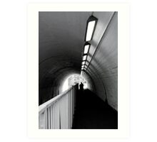 Tunnel Figure Art Print