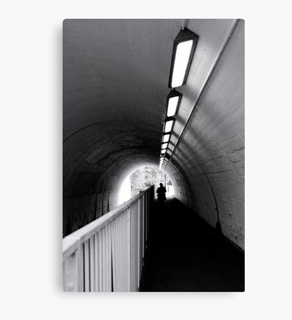 Tunnel Figure Canvas Print