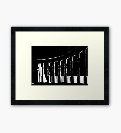 White Bannister Framed Print