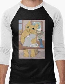 IS THAT CAT A WRITER? Men's Baseball ¾ T-Shirt