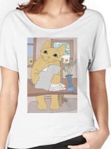 IS THAT CAT A WRITER? Women's Relaxed Fit T-Shirt