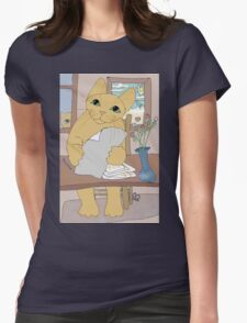 IS THAT CAT A WRITER? Womens Fitted T-Shirt