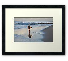 Wave Weaver - Sunshine Coast Australia Framed Print