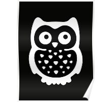 Black & White Owl Poster