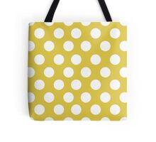 Chartreuse dots pattern Tote Bag