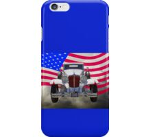 1929 Cord 6-29 Cabriolet Antique Car With American Flag iPhone Case/Skin