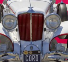 1929 Cord 6-29 Cabriolet Antique Car With American Flag Sticker