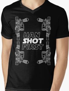 Han Shot First Shirt Mens V-Neck T-Shirt