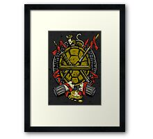 Turtle Family Crest Framed Print