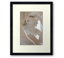 Psyche revived by Cupid's kiss - close up Framed Print