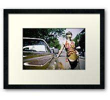 Cadillac girl Framed Print
