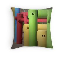 Slightly Coloured Throw Pillow