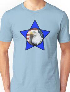 Bald Eagle & Blue Star Unisex T-Shirt