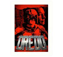 DREDD - Stylized and Impactful Poster Design Art Print