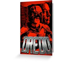 DREDD - Stylized and Impactful Poster Design Greeting Card