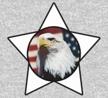 Bald Eagle & White Star T-Shirt by Mark Podger