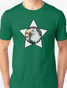 Bald Eagle & White Star T-Shirt T-Shirt