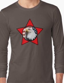 Bald Eagle & Red Star T-Shirt Long Sleeve T-Shirt