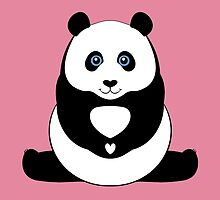 PANDA PAWS HEART by Jean Gregory  Evans