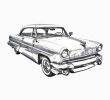 1955 Lincoln Capri Luxury Car Illustration Kids Clothes