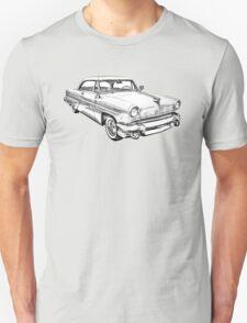 1955 Lincoln Capri Luxury Car Illustration T-Shirt