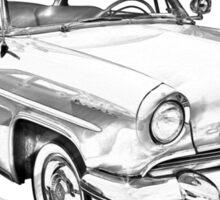 1955 Lincoln Capri Luxury Car Illustration Sticker