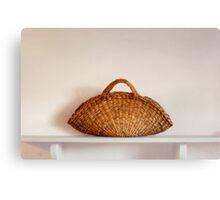 Wicker Basket Canvas Print