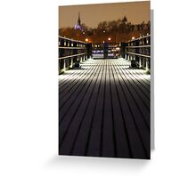 gabriels wharf lowlight Greeting Card