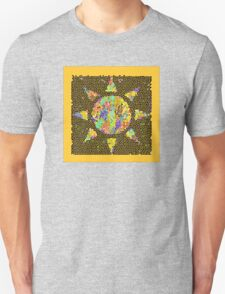 Sunburst Stained Glass Unisex T-Shirt