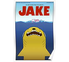 Adventure Time / Jaws Crossover Poster
