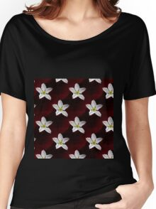 Big White Gourd Flower Women's Relaxed Fit T-Shirt