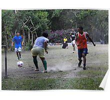El Valle, Panama Football Poster