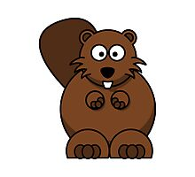 Cartoon Beaver Photographic Print