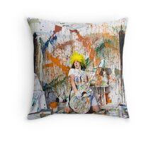 Paint Portrait Throw Pillow