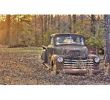 Grandpa's Old Truck Photographic Print