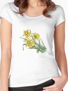 """Daffodils """"t"""" Women's Fitted Scoop T-Shirt"""