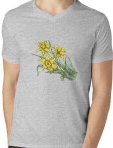 "Daffodils ""t"" Mens V-Neck T-Shirt"