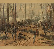 Civil War Battle of Shiloh by Thure de Thulstrup (1888) by allhistory