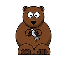 Cartoon Bear Photographic Print