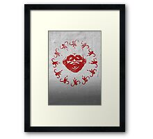 Barrel of 12 Monkeys (Red Paint) Framed Print