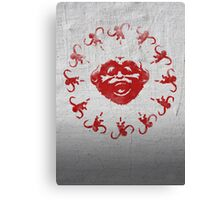 Barrel of 12 Monkeys (Red Paint) Canvas Print
