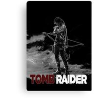 Tomb Raider Grey Canvas Print