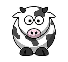 Cartoon Cow Photographic Print